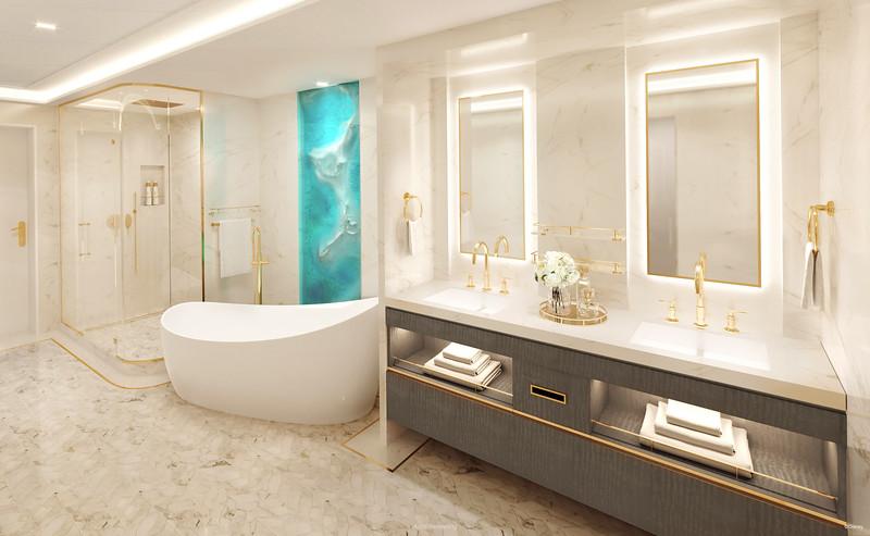 Disney Cruise LIne Disney Wish-Tower-Suite-Main-Bathroom