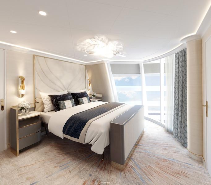 Disney Cruise LIne Disney Wish-Tower-Suite-Main-Bedroom