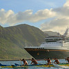 Disney Wonder in Kauai, Hawaii