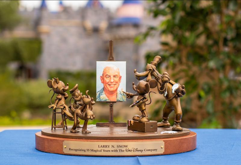 disney cast member service award 55 anniversary statue