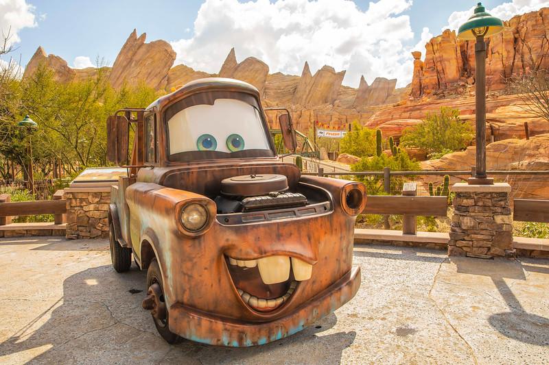 Mater in Cars Land at Disney California Adventure Park