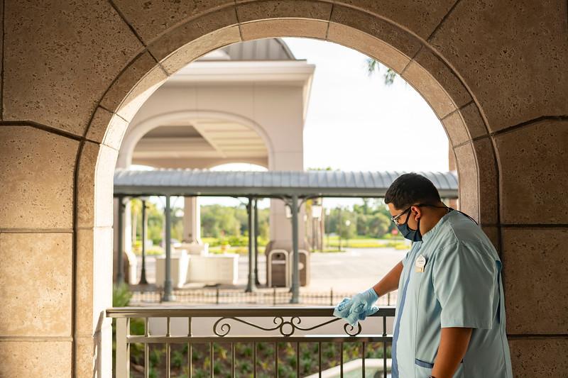 Enhanced Cleaning Measures at Walt Disney World Resort