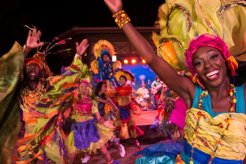 Discovery Island Carnivale at Night at Disney's Animal Kingdom