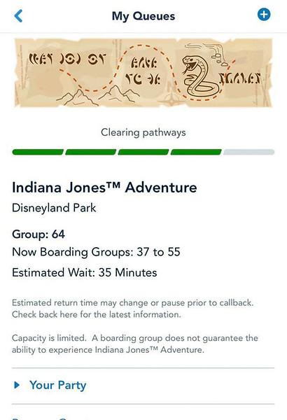 indiana jones adventure disneyland virtual queue boarding group process screenshot (4)