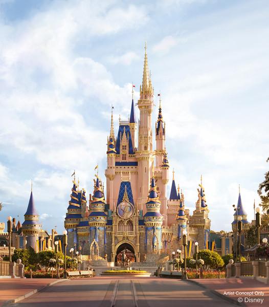 Cinderella Castle 50th Anniversary Decor