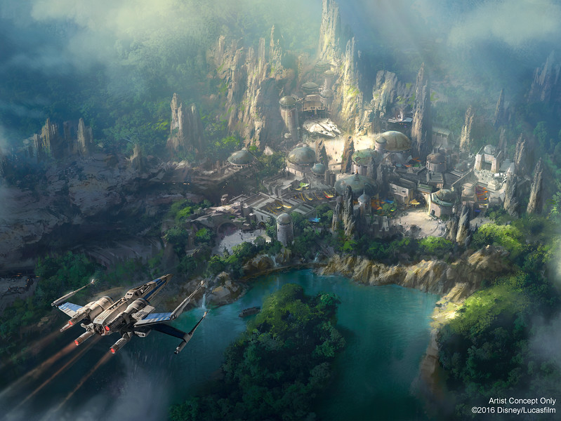 New STAR WARS themed land concept art released for new Disneyland expansion