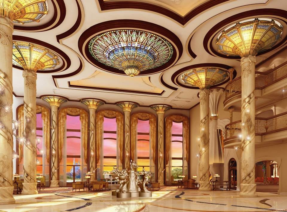 Nouveau-inspired details will bring Shanghai Disneyland Hotel to life