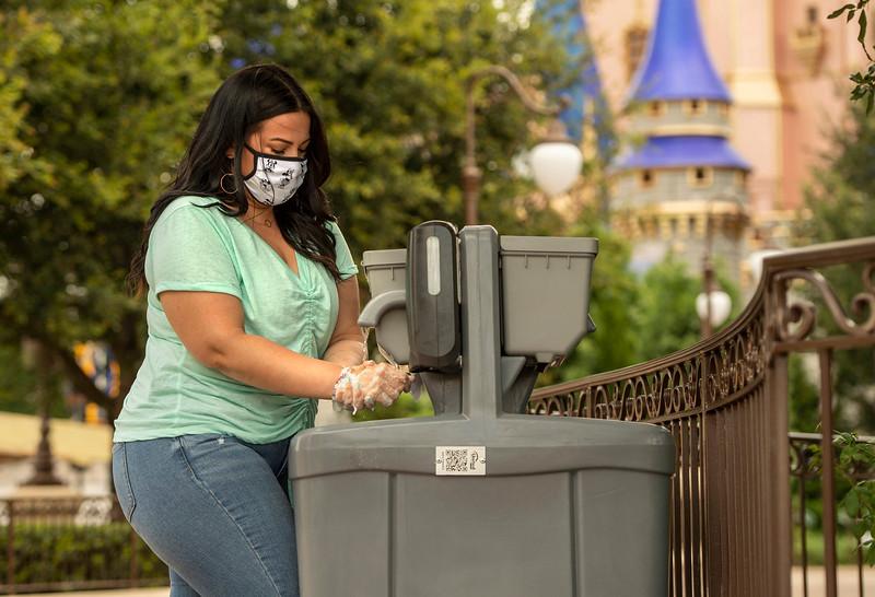 Hand-Washing Stations at Walt Disney World Resort Theme Parks