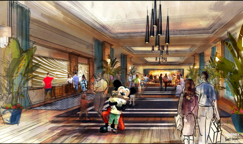"""Concept art of the lobby for the proposed new hotel at the Disneyland Resort. The approximately 700 room hotel will be located on 10 acres on what is currently the Downtown Disney parking lot. The proposed hotel would be a AAA """"Four-Diamond"""" hotel.<br /> <br /> //// ADDITIONAL INFORMATION: Concept art of the proposed new hotel at the Disneyland Resort. The approximately 700 room hotel will be located on 10 acres on what is currently the Downtown Disney parking lot. The proposed hotel would be a AAA """"Four-Diamond"""" hotel.  -  Date of photo: 06/06/16 - disney.newhotel -- Photo by: COURTESY, THE DISNEYLAND RESORT"""