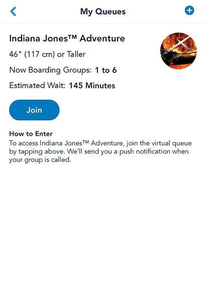 indiana jones adventure disneyland virtual queue boarding group process screenshot (1)