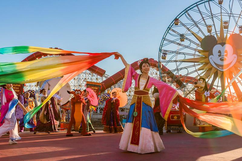 """Mulan's Lunar New Year Procession"" at Disney California Adventure Park"
