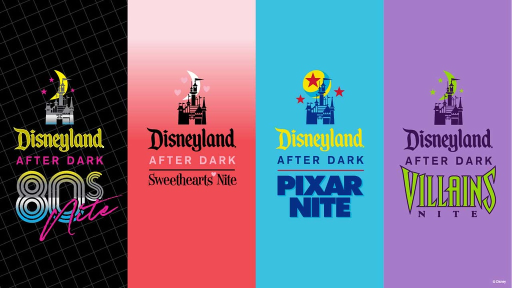 Details, Dates, and Pricing revealed for 2020 DISNEYLAND AFTER DARK; 80s, Sweethearts, Pixar, and Villains