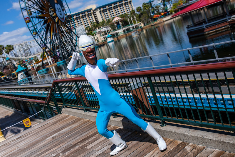Frozone in Pixar Pier at Disney California Adventure Park