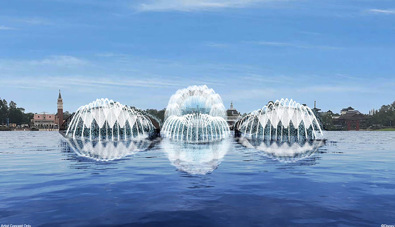 harmonious epcot daytime fountains-