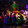 A COLORFUL HOMECOMING – Tinker Bell dazzles in the night on a colorful garden float during the Main Street Electrical Parade at Disneyland park. The Main Street Electrical Parade will run for a limited-time, through June 18, 2017, at Disneyland park. (Scott Brinegar/Disneyland)