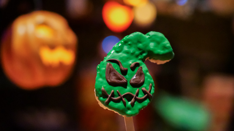 Halloween Time Treats at Disneyland Resort – Oogie Boogie-Inspired Rice Crisped Treat