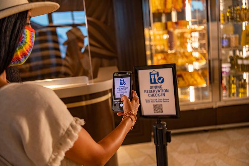 Mobile Check-In at Walt Disney World Resort Restaurants
