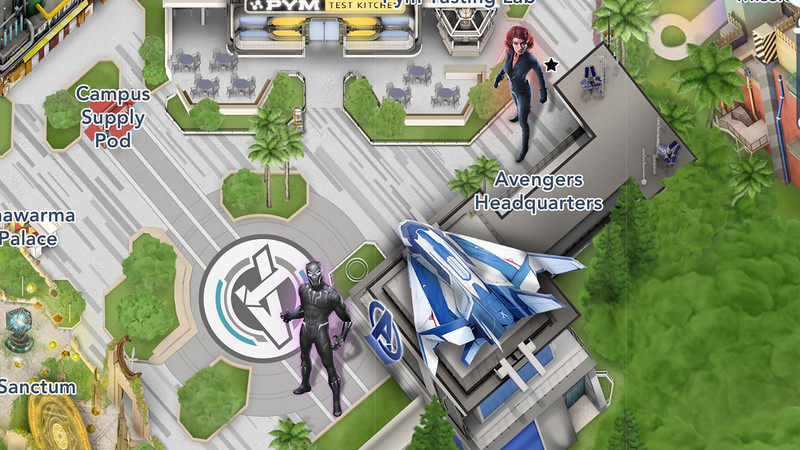avengers campus official map black widow black panther