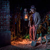 Haunted Mansion at Disneyland Park - Groundskeeper and his Dog