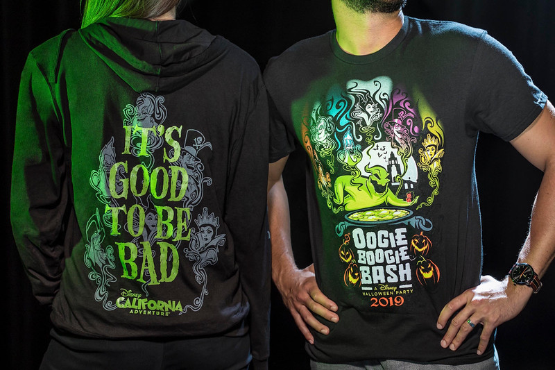 Halloween Time at Disneyland Resort – Oogie Boogie Bash Zip Fleece and Adult Tee