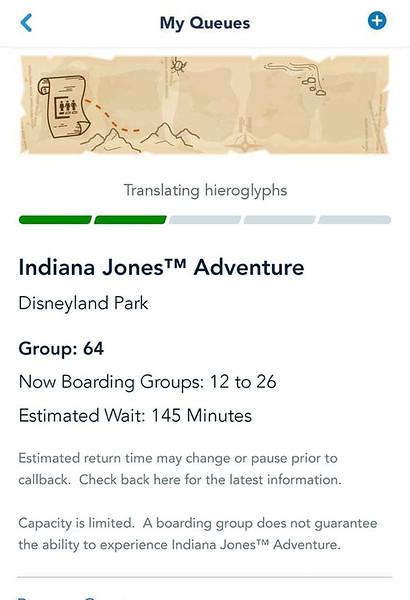 indiana jones adventure disneyland virtual queue boarding group process screenshot (3)