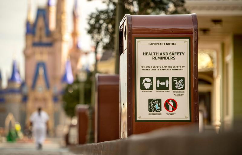 Health and Safety Signage at Walt Disney World Resort Theme Parks