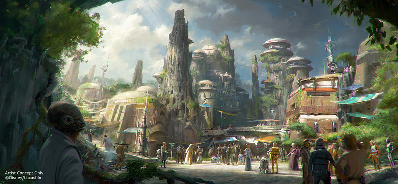 Star Wars-Themed Lands Coming to Disney Parks – Walt Disney Company Chairman and CEO Bob Iger announced at D23 EXPO 2015 that Star Wars-themed lands will be coming to Disneyland park in Anaheim, Calif., and Disney's Hollywood Studios in Orlando, Fla., creating Disney's largest single-themed land expansions ever at 14-acres each, transporting guests to a never-before-seen planet, a remote trading port and one of the last stops before wild space where Star Wars characters and their stories come to life.  These authentic lands will have two signature attractions, including the ability to take the controls of one of the most recognizable ships in the galaxy, the Millennium Falcon, on a customized secret mission, and an epic Star Wars adventure that puts guests in the middle of a climactic battle. (Disney Parks)