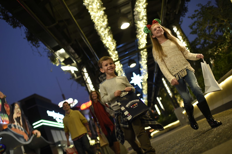 Guests will be transported to a magical winter wonderland as they visit Disney Springs during the holiday season. Each neighborhood in Disney Springs has been transformed into a unique holiday wonderland for the season's greetings, each reflecting the neighborhood's role in the waterfront town. Disney Springs is the shopping, dining and entertainment venue at Walt Disney World Resort located in Lake Buena Vista, Florida. (Kent Phillips, photographer)