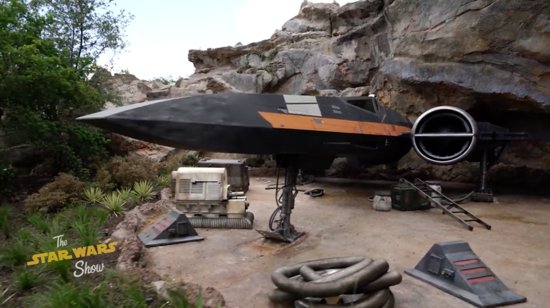 FIRST LOOK: BB-8 to feature aboard Poe Dameron's life-size X-wing in Rise of the Resistance, #StarWars #GalaxysEdge