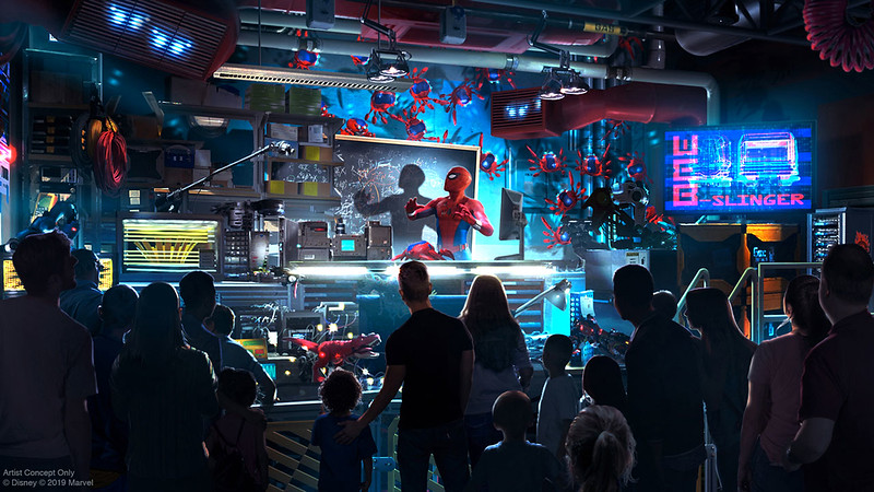 Avengers Campus Spider-Man Attraction
