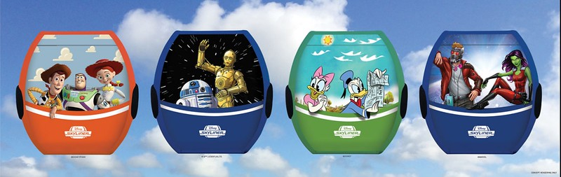 More than a dozen movies confirmed for 'Disney Skyliner' gondolas