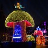 "A COLORFUL HOMECOMING – Beloved characters from the classic 1951 Disney film ""Alice in Wonderland,"" including Alice and the Caterpillar aboard illuminated mushroom floats, entertain guests during the Main Street Electrical Parade at Disneyland Park. The Main Street Electrical Parade will run for a limited-time, through June 18, 2017, at Disneyland park. (Scott Brinegar/Disneyland)"