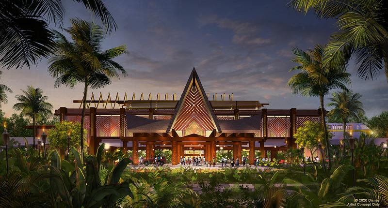 Reimagined Porte Cochere at Disney's Polynesian Village Resort