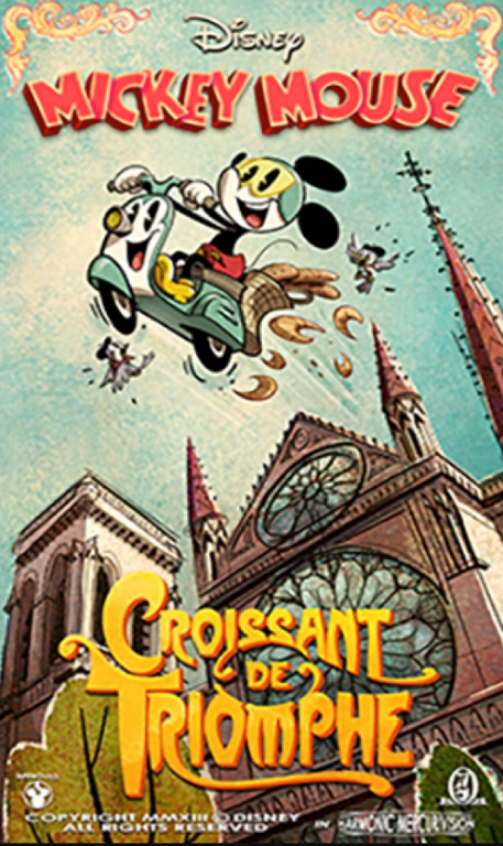 Croissant! Croissant! Croissant! Check out the new 'Mickey & Minnie's Runaway Railway' poster with… croissants!