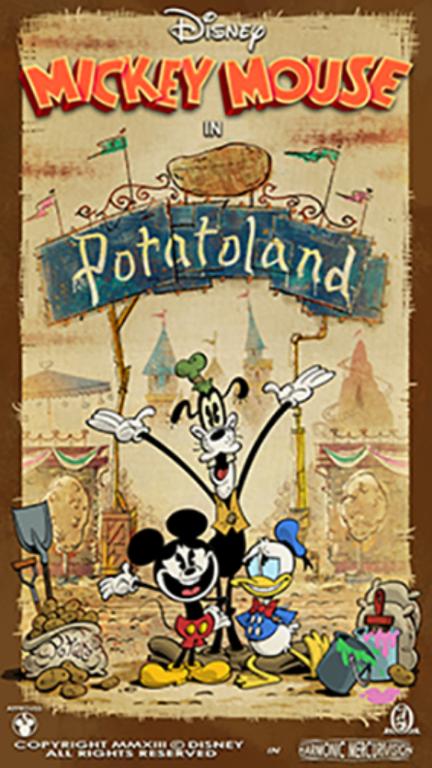 POTATO! POTATO! POTATO! Potatoland features in new 'Mickey & Minnie's Runaway Railway' poster