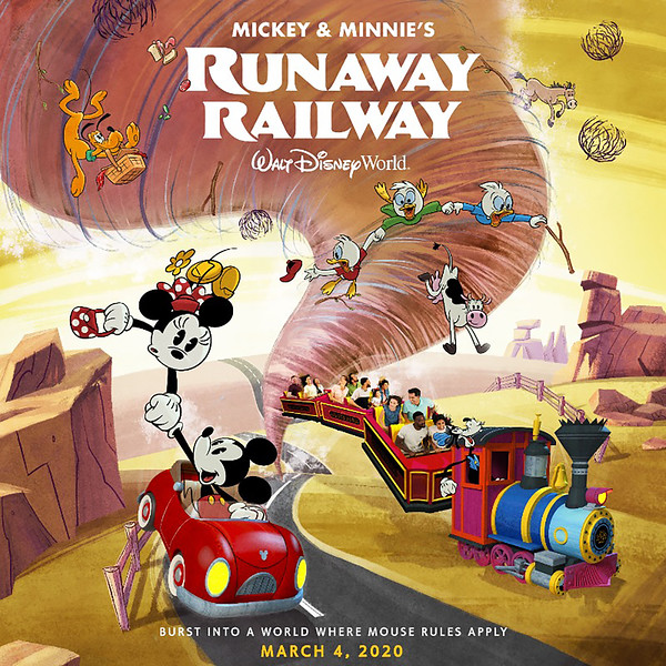 Huey, Dewey, and Louie feature in new 'Mickey & Minnie's Runaway Railway' marketing artwork #MouseRulesApply