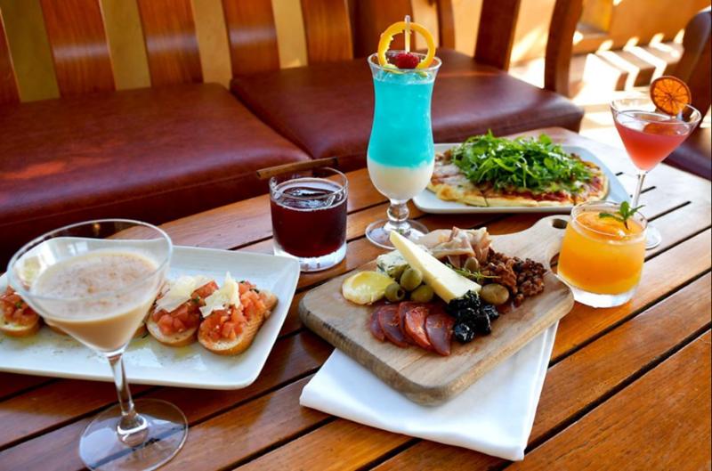 alfresco tasting terrace food and drinks