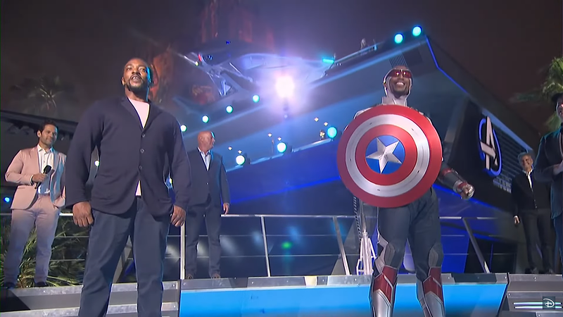 captain america avengers campus anthony mackie grand opening ceremony (3)