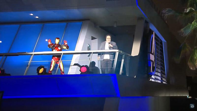 jon favreau iron man mark 80 suit avengerse campus grand opening ceremony (2)