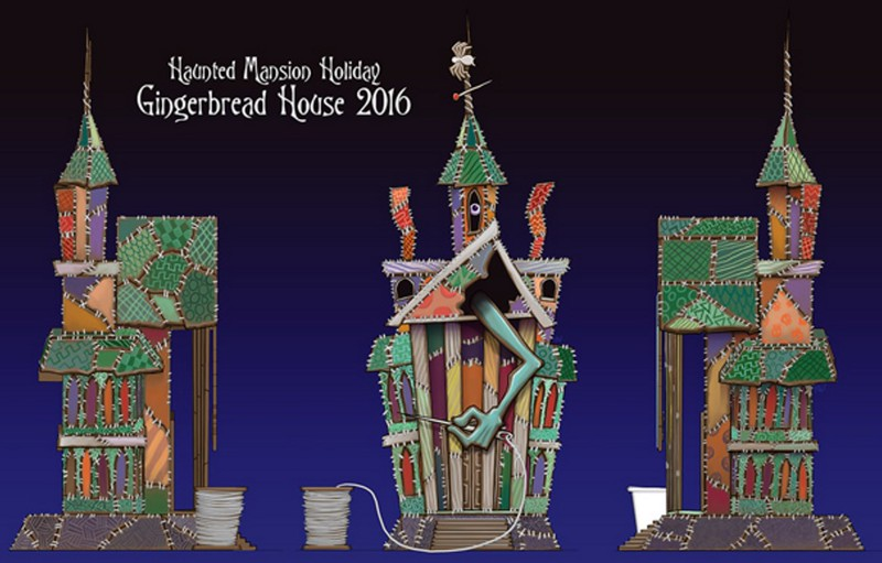 Disney unveils 2016 HAUNTED MANSION HOLIDAY gingerbread house design