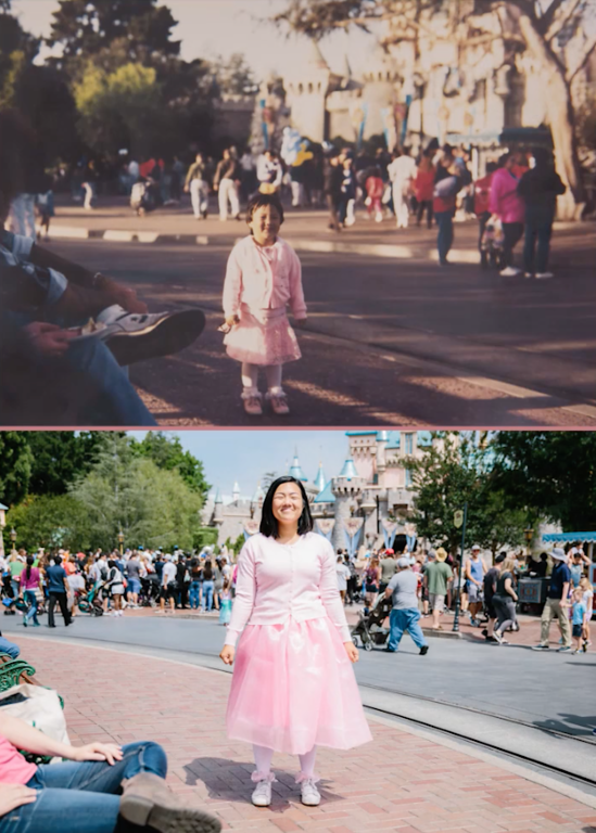 Re-created childhood Disneyland memories at the heartstrings for Mother's Day
