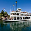 MARK TWAIN RIVERBOAT -- While visiting Frontierland, Disneyland park guests can cruise back in time on a 14-minute sightseeing voyage aboard a recreation of the glorious 19th-century steam-powered paddlewheel riverboats that carried people and cargo up and down the mighty Mississippi. (Paul Hiffmeyer/Disneyland)