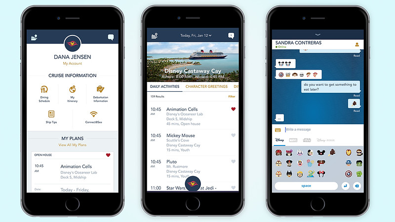 New DISNEY CRUISE LINE mobile app will look familiar to Disney Parks goers