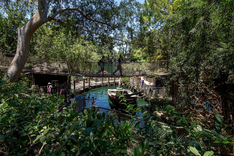 Island<br /> CLASSIC DISNEYLAND PARK ATTRACTIONS RETURN (ANAHEIM, Calif.) –At Pirate's Lair on Tom Sawyer Island, guests relive the plucky adventures of Tom Sawyer and Huck Finn when they ran away to live the carefree life of a pirate. Guests may explore, wander dusty roads and amble across creaky suspension bridges. (Joshua Sudock/Disneyland Resort)