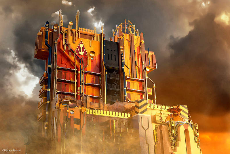 "Guardians of the Galaxy–Mission: BREAKOUT! — Debuting May 27, 2017, Guardians of the Galaxy–Mission: BREAKOUT! will take guests at Disney California Adventure Park through the fortress of The Collector, who is keeping his newest acquisitions, the Guardians of the Galaxy, as prisoners. Guests will board a gantry lift which launches them into a daring adventure as they join Rocket in an attempt to set free his fellow Guardians. The epic new adventure blasts guests straight into the ""Guardians of the Galaxy"" story for the first time, alongside characters from the blockbuster films and comics. As guests join Rocket in his attempt to bust his pals out of The Collector's Fortress, they will experience randomized ride experiences complete with new visual and audio effects and music inspired by the popular film soundtracks. (Artist Concept/Disneyland Resort)"