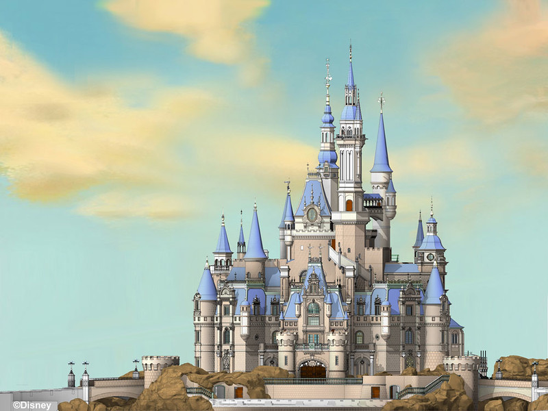 Enchanted Storybook Castle - Shanghai Disneyland - Final Model Visualization