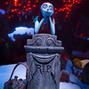 "HAUNTED MANSION HOLIDAY RETURNS WITH NEW MAGIC -- Jack Skellington brings a unique spark to the season as Haunted Mansion Holiday returns to Disneyland park to celebrate the collision between Halloween and Christmas through Jan. 8, 2017. New this year to this seasonal offering inspired by Walt Disney Pictures classic ""Tim Burton's The Nightmare Before Christmas,"" is Jack's friend Sally who joins him in the Mansion graveyard. (Scott Brinegar/Disneyland)"