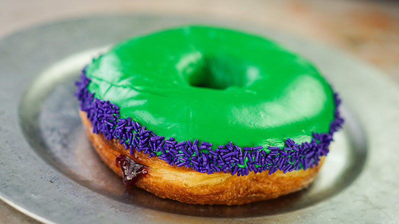 GAMMA-SIZED DONUT – Guests will find hero-inspired food and beverage at Disney California Adventure Park for the Summer of Heroes from May 27 to Sept. 10. (Disneyland Resort)