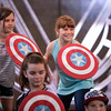 RECRUITS IN TRAINING – Young recruits aspiring to join the ranks of the Avengers participate in the interactive show Avengers Training Initiative at Disney California Adventure Park. Guests will find excitement throughout Hollywood Land during Summer of Heroes with the Avengers Training Initiative featuring Black Widow and Hawkeye, and heroic encounters with Black Widow, Captain America and Spider-Man. (Joshua Sudock/Disneyland Resort)