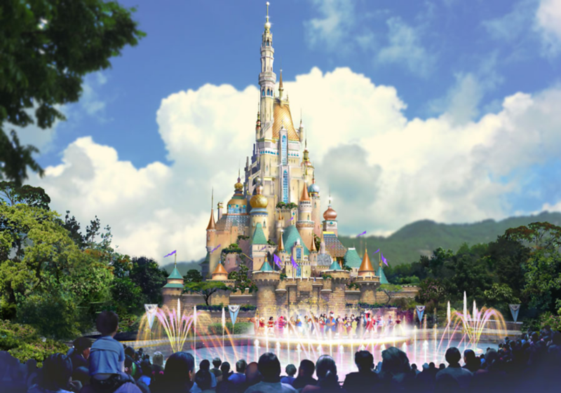 Sleeping Beauty Castle makeover and FROZEN land continue to refine details with new concept art